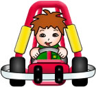 cartoon girl in kart © go kiddy karts 2007